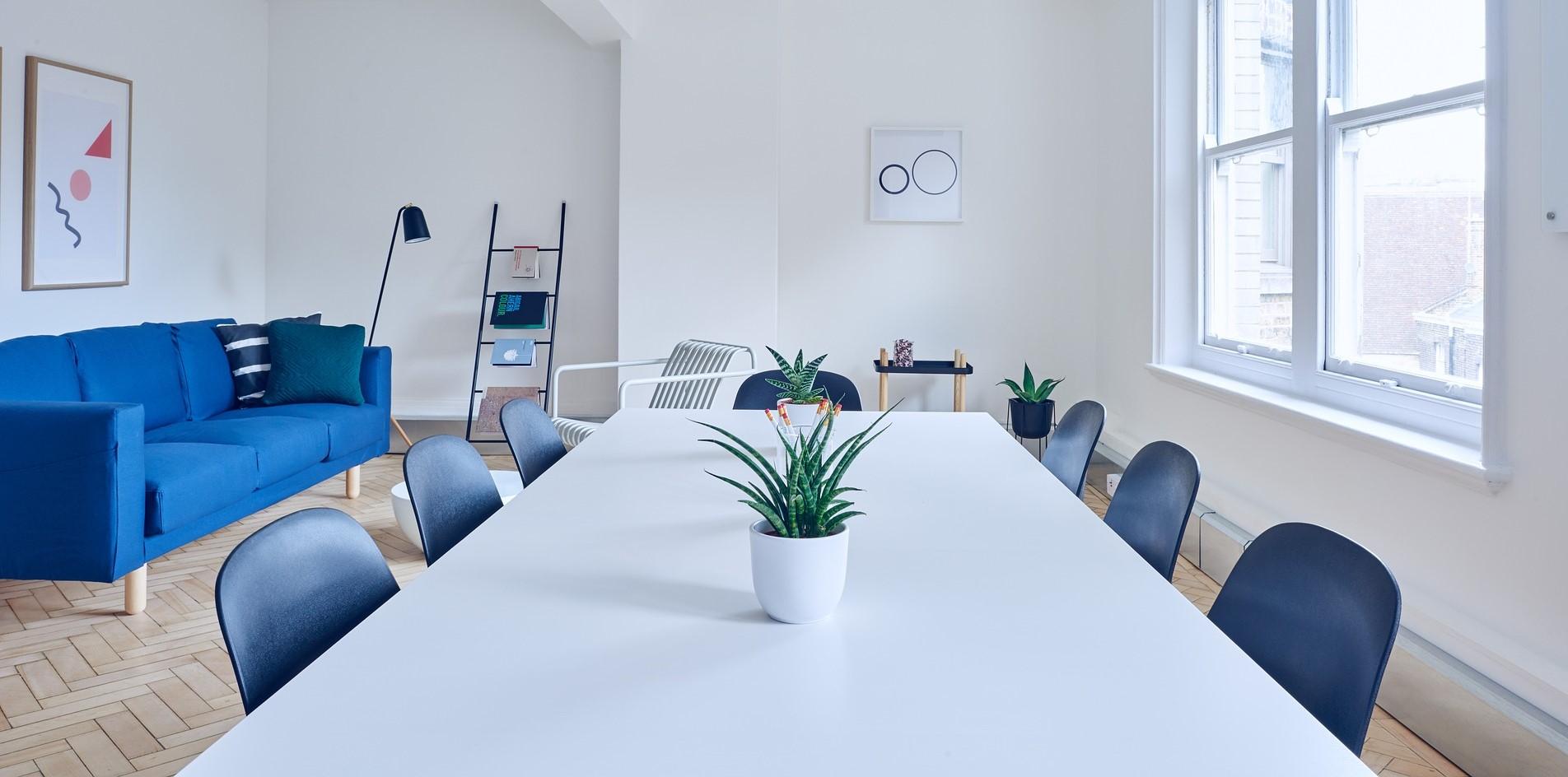 Konferensbord - Vit färg